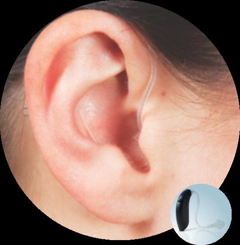 Οπισθωτιαίο ακουστικό βαρηκοΐας με εκμαγείο από την Cosmoear
