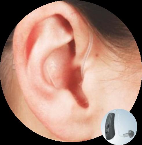 Οπισθωτιαίο ακουστικό βαρηκοΐας με μεγάφωνο μέσα στο αφτί από την Cosmoear